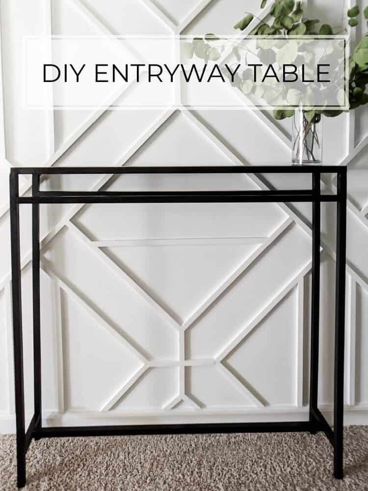 Easy DIY Entryway Table for $30