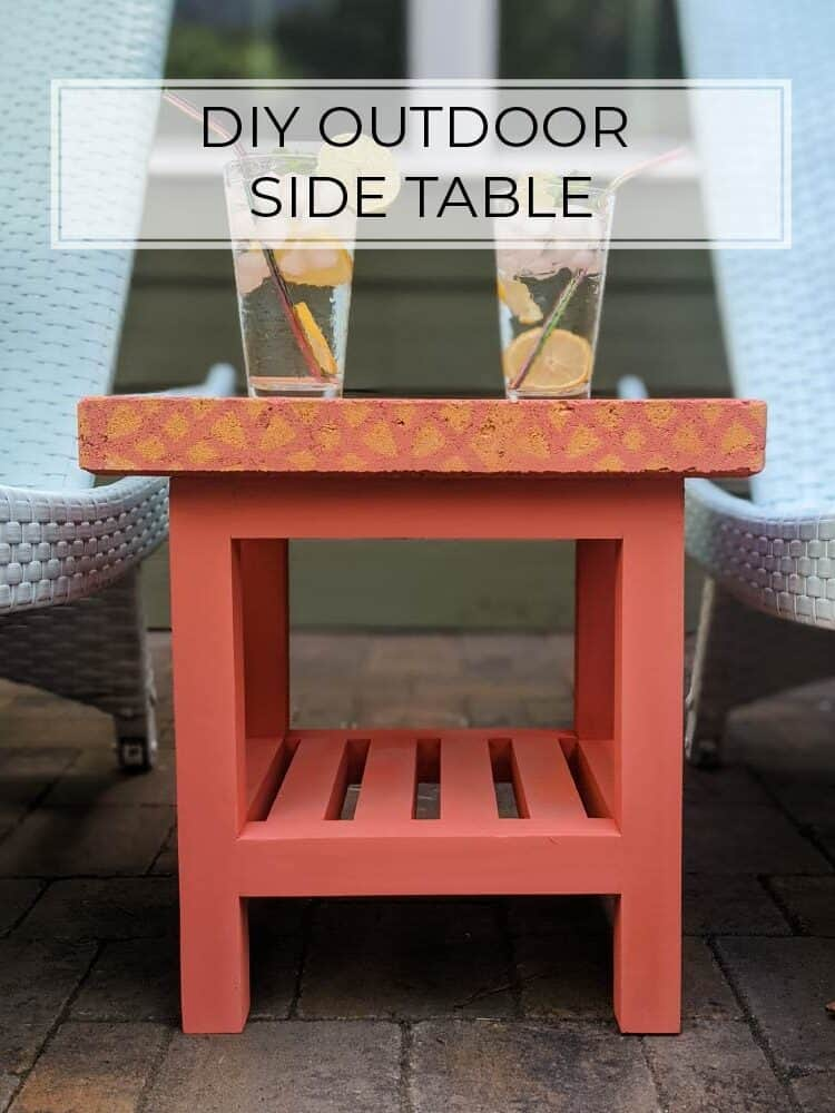 Simple DIY Outdoor Side Table Plans