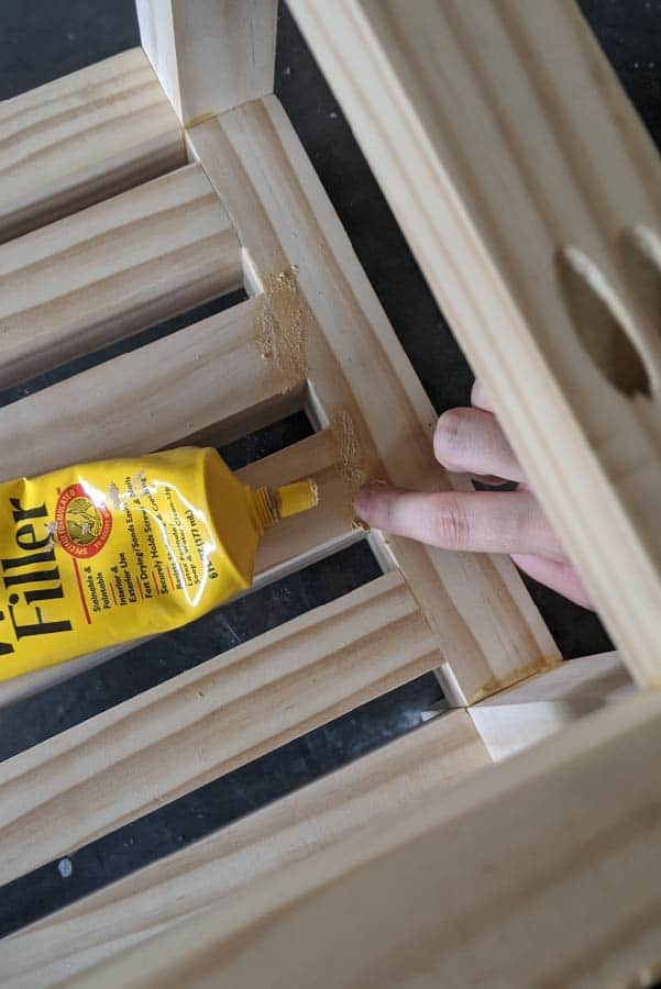 adding wood filler