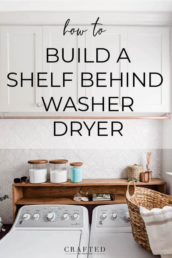 how to build a shelf behind washer dryer