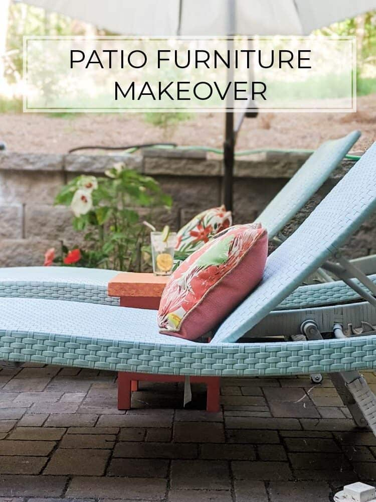 One Day Patio Furniture Makeover with Spray Paint