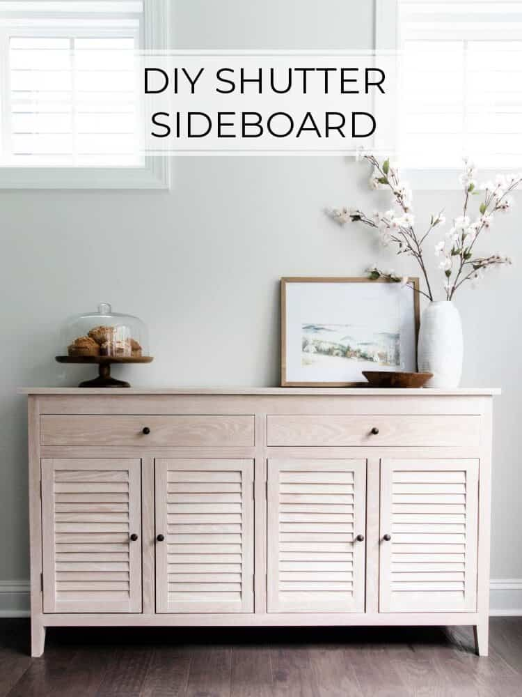 DIY Shutter Sideboard with Cerused Finish