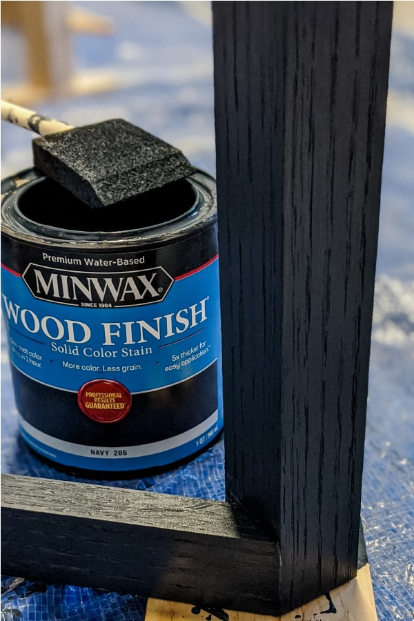Minwax Solid Color Stain in Navy on Oak
