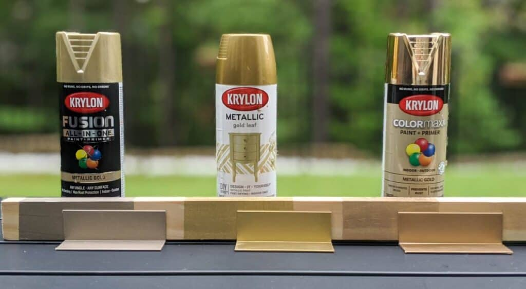the best gold metallic spray paint options side by side