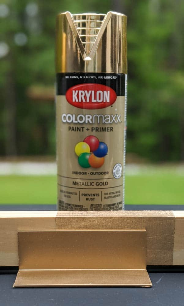 Krylon ColorMaxx Metallic Gold on metal and wood