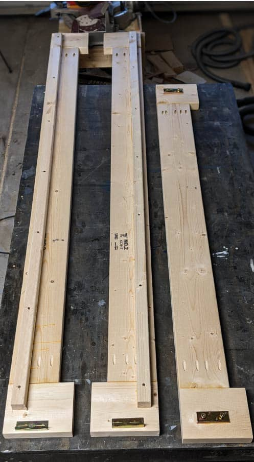 building base of platform bed with 2x6 framing lumber