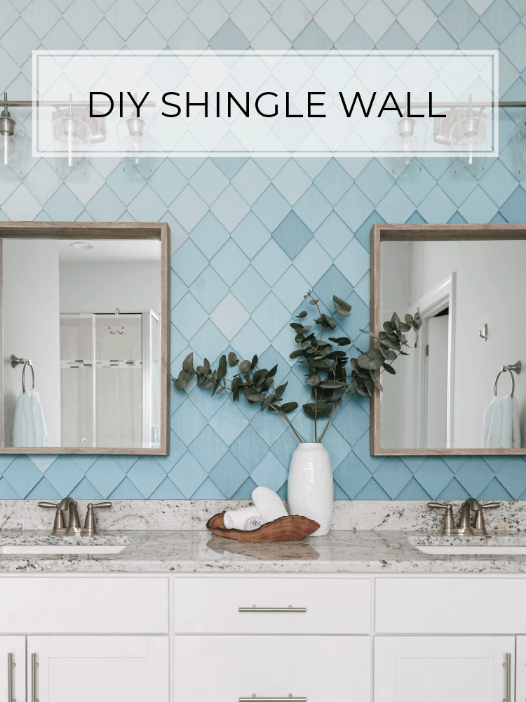 DIY Textured Accent Wall Using Shingles