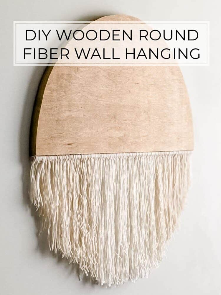 DIY Wooden Round Fiber Art Wall Hanging