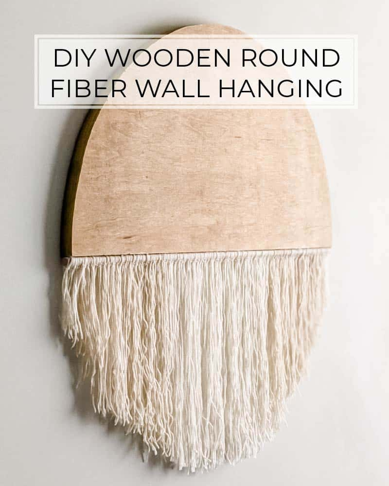 diy wood round and fiber wall hanging