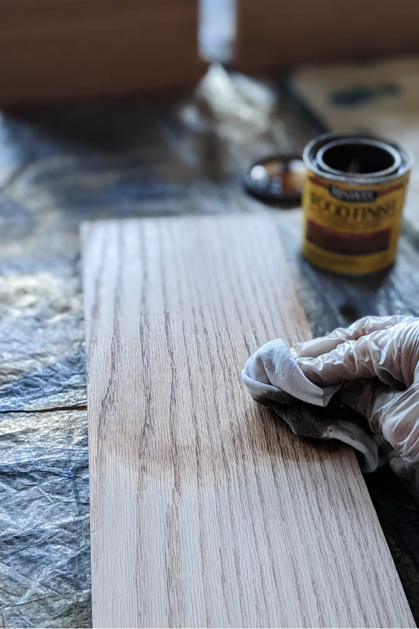 staining shelves with minwax Early American
