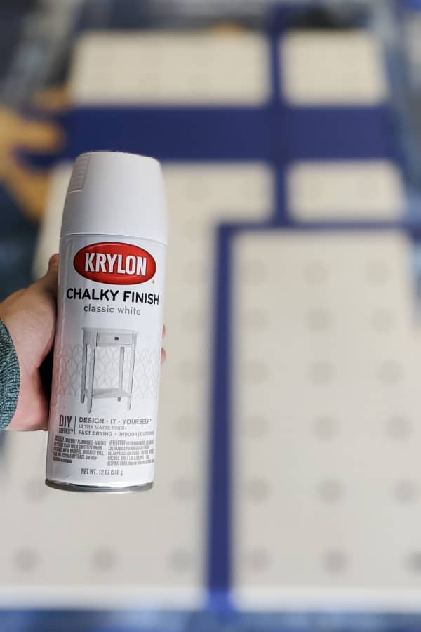 Krylon Chalky Finish spray paint in Classic White