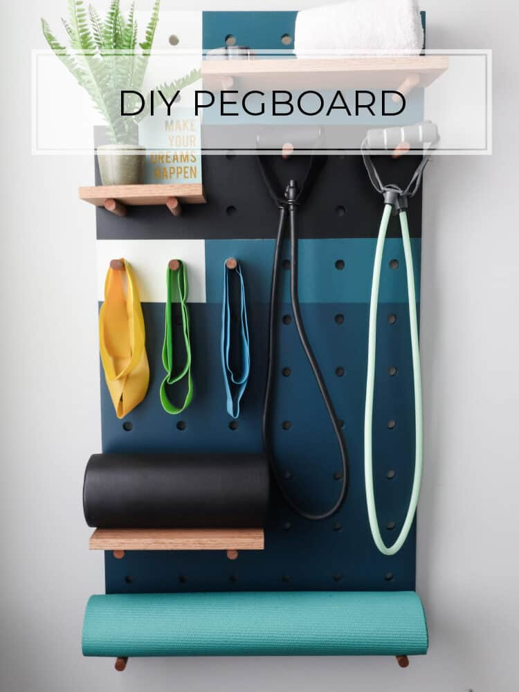 DIY Pegboard: Great for home offices, workshops, or gyms!