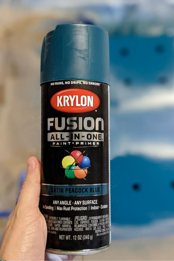 Krylon Fusion All-in-One in Satin Peacock Blue
