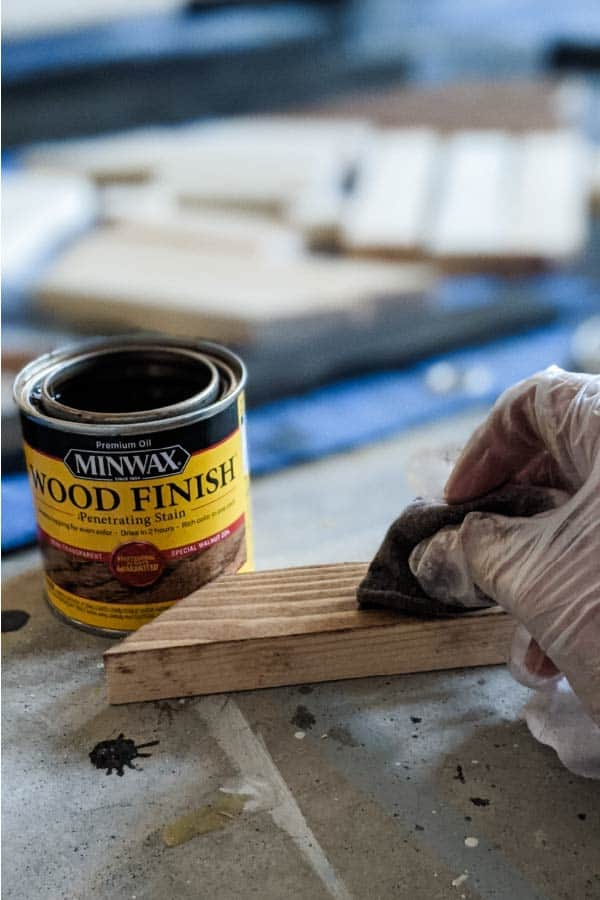 Staining with Minwax Special Walnut