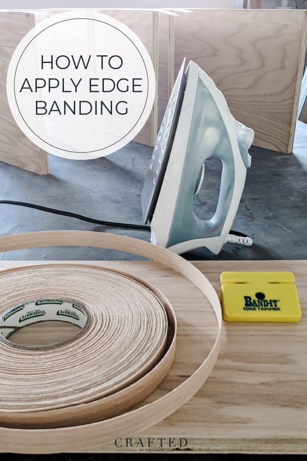 materials you need to finish plywood edge: iron, edge banding, edge trimmer