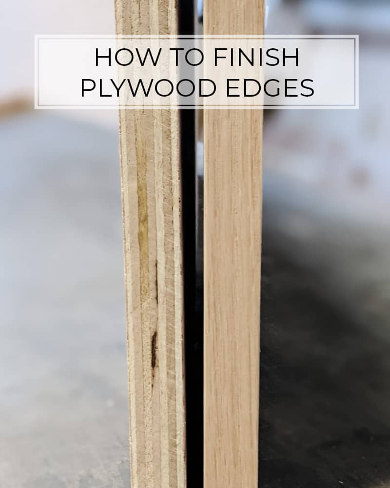 side by side of raw plywood edge vs finished plywood edge