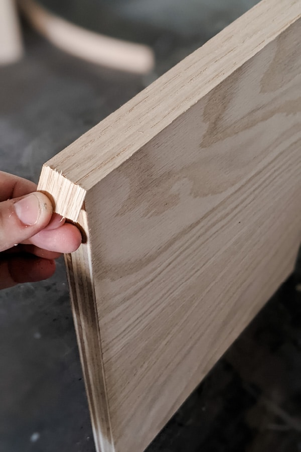 trimming ends of edge banding by folding