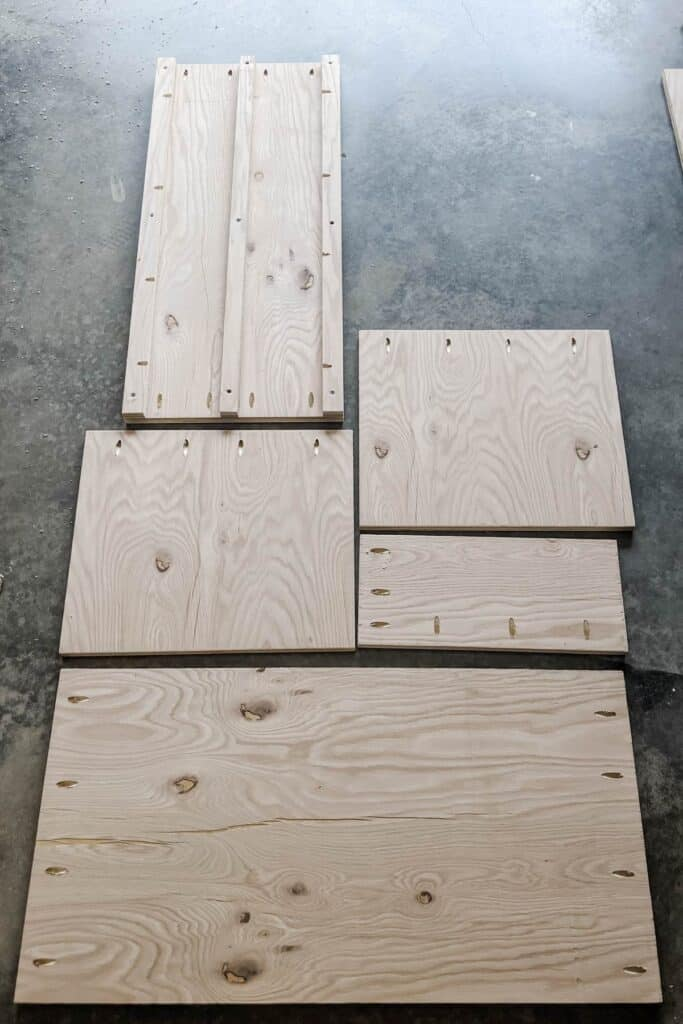 pocket holes in plywood