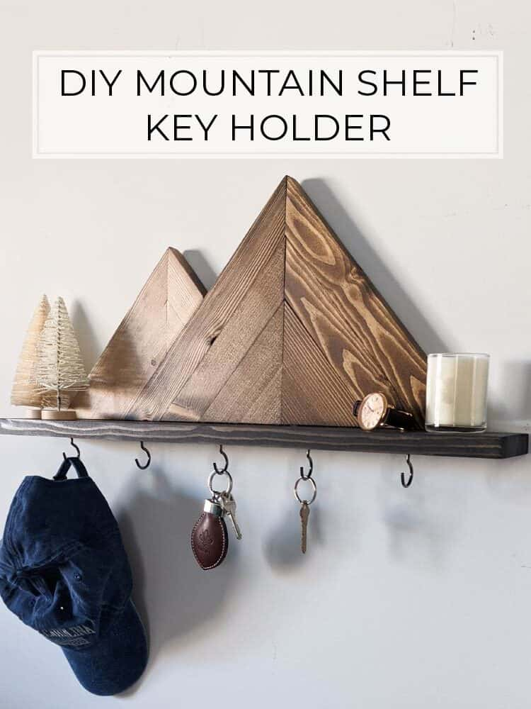 Make a DIY Mountain Shelf Key Holder in a Few Hours