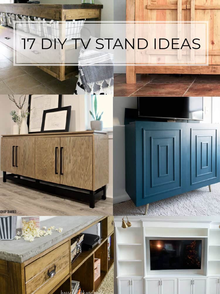 17 DIY TV Stand Plans You Can Make This Weekend