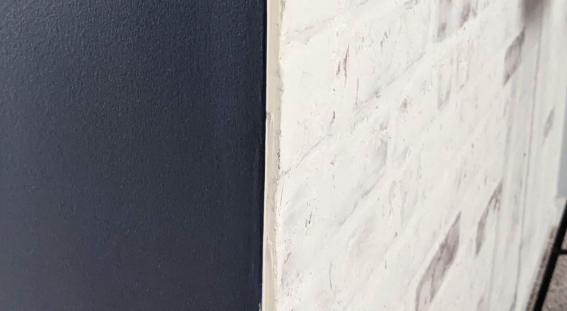 side of faux brick paneling