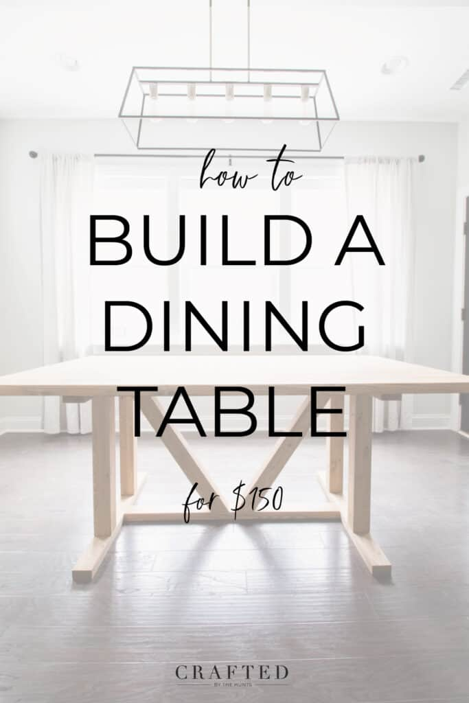 how to build a dining table for $150