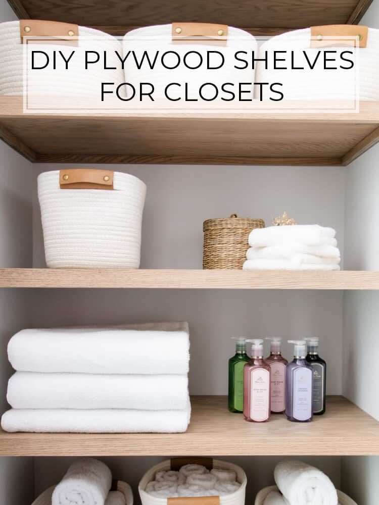 How to Build Plywood Shelves in a Closet
