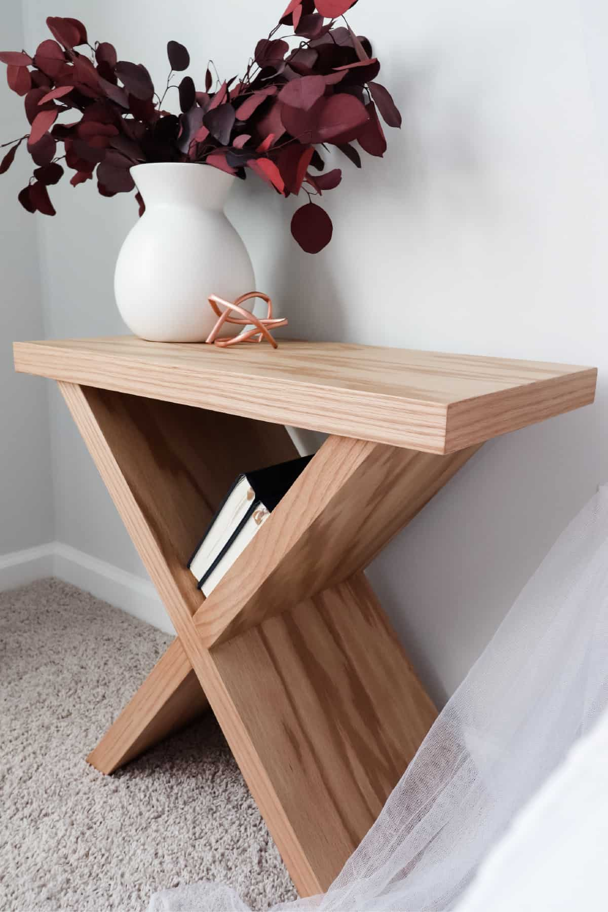 DIY Cross Coffee Table by crafted by the hunts