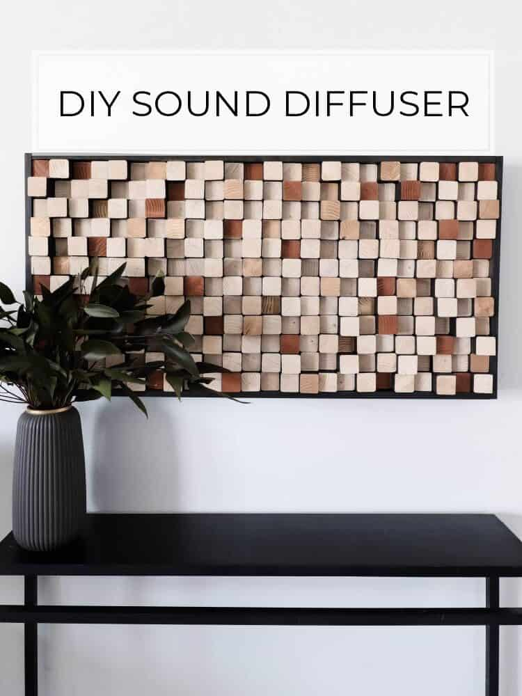 DIY Sound Diffuser Wall Art