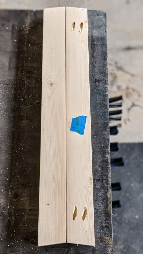 pocket holes in angled board
