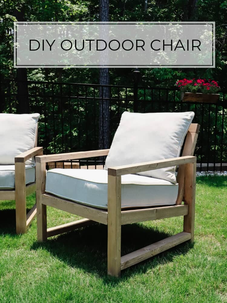 DIY Outdoor Chair (with a slanted back)