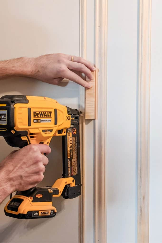 nailing up thin picture frame moulding