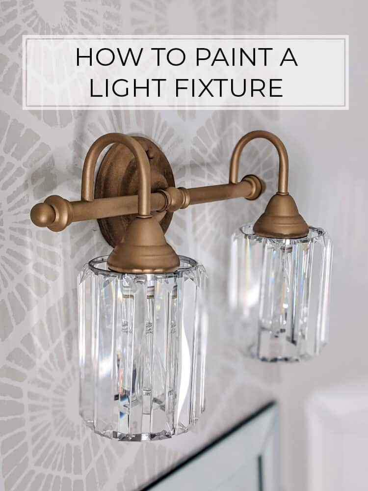 The Easiest Way to Paint a Light… Use Spray Paint!